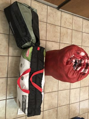 Selling camping gears (tent, mattress and sleeping bag) for Sale in San Diego, CA
