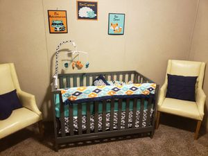 Baby bed with bedding. Also have the changing table at an additional cost. Mattress included for Sale in Clinton Township, MI
