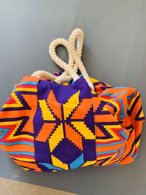 Picnic tote orange & violet with thick thread handle for Sale in Fort Worth, TX