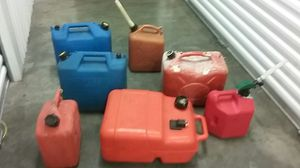 Gas tanks orange one is a yamaha about 10 gallon for Sale in Hialeah, FL