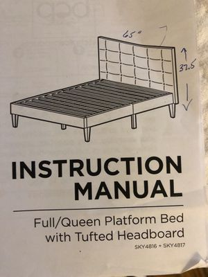 Queen bed for Sale in Charlotte, NC