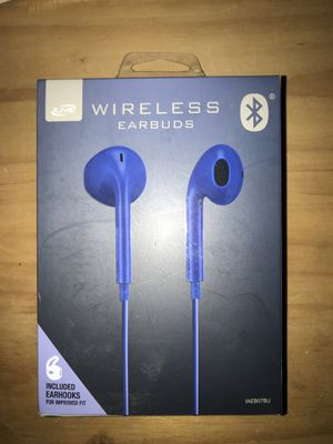 Blue Wireless Earbuds for Sale in Wilmington, DE