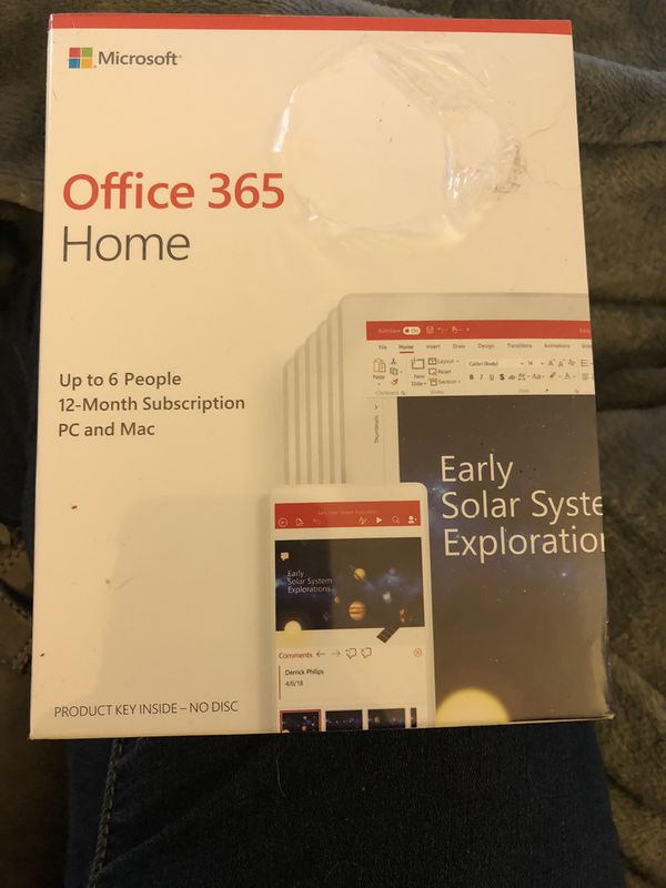 Microsoft Office 365 Home (Brand New!- sealed in box)