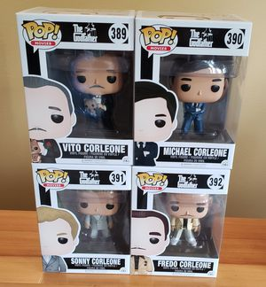 Lot of 4 The Godfather Funko Pops! for Sale in Arlington, WA