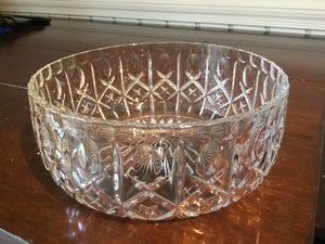 """Crystal bowl, 10"""" x 14"""", made in France, 24% Crystal, never used for Sale in McLean, VA"""