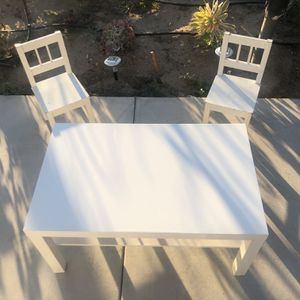 """Table And Two Chairs , Table: high 18 """"length 35"""" deep 22"""" for Sale in Los Alamitos, CA"""