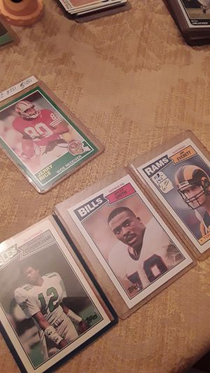 1987 Randall Cunningham and Jim Everett r/c's + Bruce Smith and 1989 Score Jerry Rice for Sale in Tampa, FL