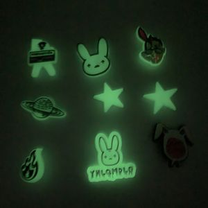 Bad Bunny Charms For Crocs Shoe 9 Pcs Glow In The Dark for Sale in Hollywood, FL
