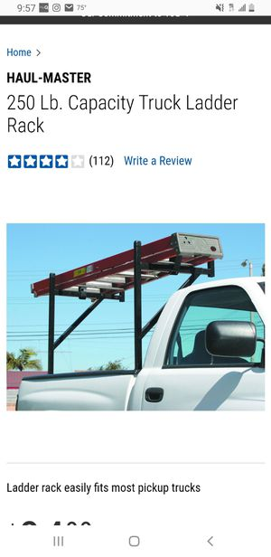 Ladder rack harbor freight SINGLE, only one for Sale in South Gate, CA