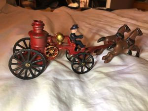 Vintage fire wagon and horse piece for Sale in Sunnyvale, CA