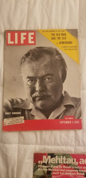 1952 life Magazine Ernst Hemingway for Sale in Silver Spring, MD
