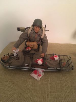 Vintage 21st century ultimate soldier navy ww2 medic these are not toys 12 inch action figures very best for Sale in Gloucester, VA
