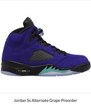 Jordan 5 Alternate Grape Size 10 for Sale in Washington, DC