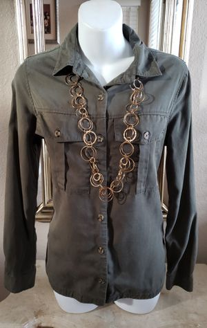 Army green Junior's blouse size Small. for Sale in Riverside, CA