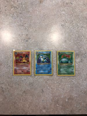 3 shadowless Pokemon starter set for Sale in Woodinville, WA