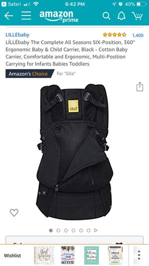 Like new Lille All- Season Baby Carrier for Sale in Columbia, IL