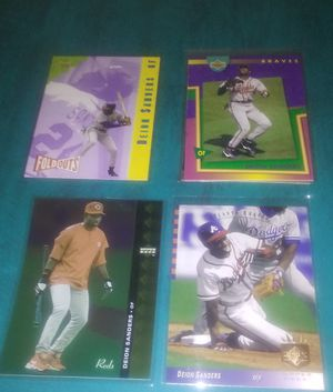 Lot of 4 Dionne Sanders Baseball Cards - See Photos for Sale in Ashland City, TN