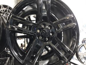 """26"""" full gloss black wheels rims tires for Sale in Chicago, IL"""