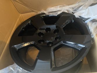 Brand new Chevy Silverado Tahoe suburban black rims a 20 for Sale in Renton,  WA
