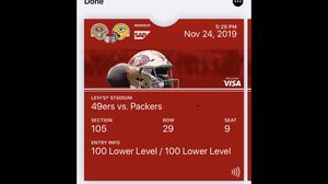 2 49ers vs Packers tickets for Sale in Redwood City, CA