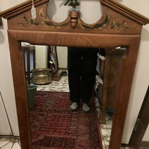 Tell City Mirror Vintage Hitchcock Style Tole Stenciled Mirror for Sale in Westchester, IL