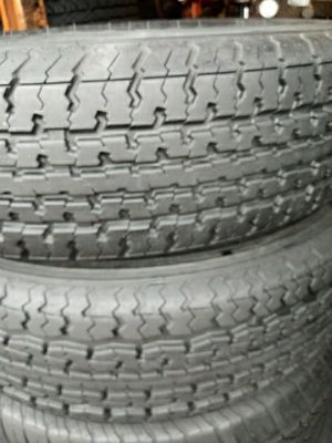 2 trailer used tires st 205 75 14 for Sale in San Antonio, TX