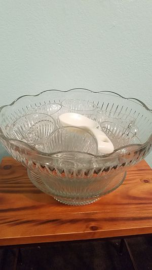 Crystal Punch Bowl for Sale in Tucson, AZ