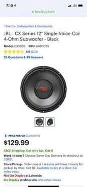 12 inch subwoofer *New* for Sale in Kenner, LA