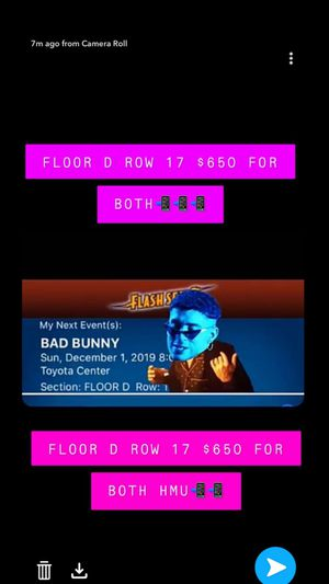 BAD BUNNY TICKETS HOUSTON TX for Sale in Houston, TX