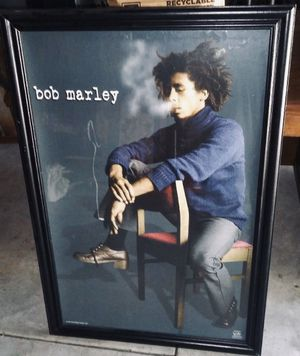 Framed bob Marley poster for Sale in Wichita, KS