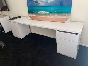 Custom desk white laminate for Sale in Chico, CA