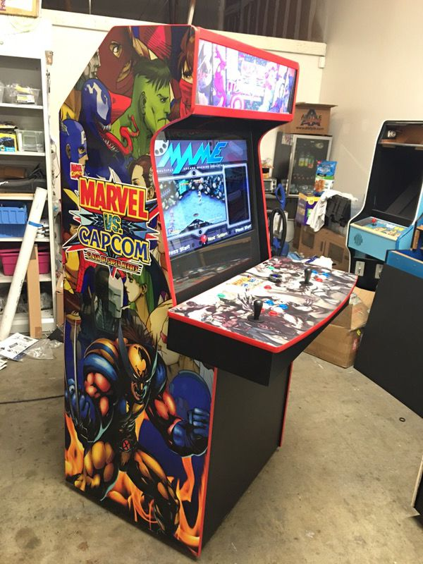 Arcade Marvel Vs Capcom Theme 32 Quot Lcd Mame Hyperspin 8800