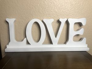 White Love Home Decor Sign for Sale in Chula Vista, CA