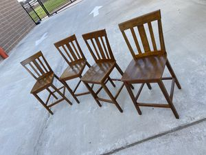 4 wood dining chairs for Sale in Houston, TX