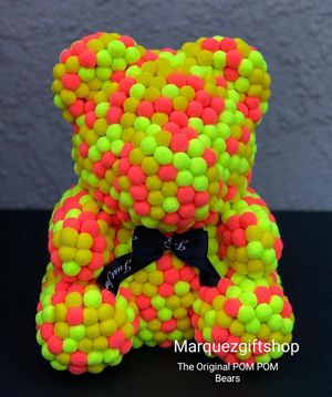 Colorful POM POM, Bear only at Marquezgiftshop for Sale in Riverside, CA