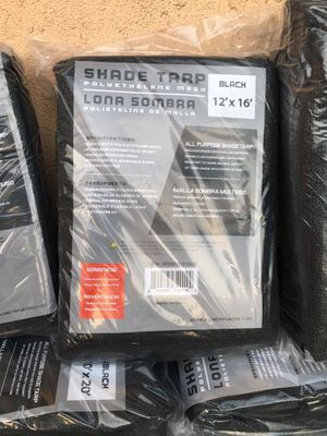 Black Mesh Shade Tarp 12'x16' for Sale in Los Angeles, CA