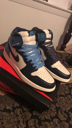 Air Jordan 1 retro high obsidian unc size 8 for Sale in Richardson, TX