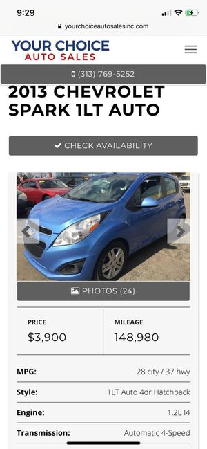 2013 Chevy Spark leather seat big touch screen radio for Sale in Dearborn, MI