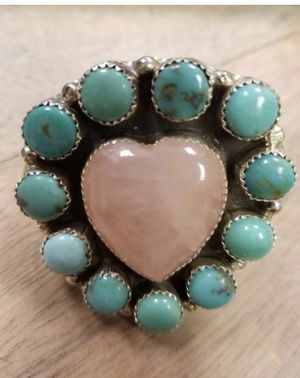 M&S Turquoise Sterling Silver Handmade Ring for Sale in Corona, CA