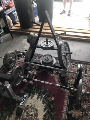 2 Weight Sets, Bench Press & Squat Rack for Sale in Palm Harbor, FL