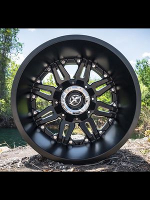 New 22x14 XF off road Matte Black rims wheels 8x6.5 Chevy Dodge 8x170 XD fuel moto RBP for Sale in Tampa, FL