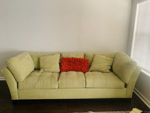 Big comfy fall asleep soon as you sit in a lime green amazing couch a year old nearly new excellent condition for Sale in Atlanta, GA