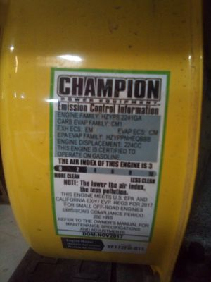 Champion Power Equipment 100217 3650W RV Ready Portable Generator for Sale in Santa Cruz, CA