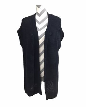 NWT - Talbots Navy Short Sleeve Long Open Front Cardigan - Size M - Retails $90 for Sale in South Windsor, CT