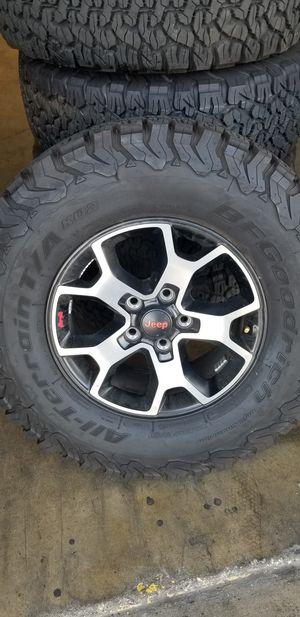 Jeep Wrangler Rubicon rims and tires for Sale in Glendora, CA