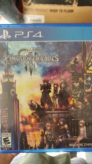 Kingdom Hearts 3 PS4 for Sale in San Bernardino, CA