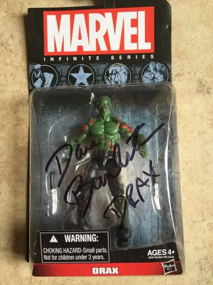 Drax- David Bautista- autograph action figure for Sale in Tampa, FL