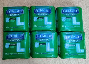 """Medline FitRight Extra Briefs Size Large 48-58"""" 6 x 20 Count (120 Total) for Sale in San Gabriel, CA"""