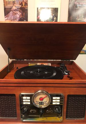 Record player & 25 records + 8 track for Sale in Avondale, AZ