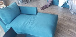 Teal Couch 2 Piece Sectional for Sale in Glendale, AZ